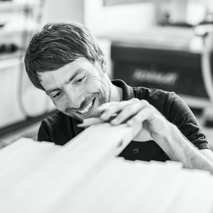 Mathias in the workshop